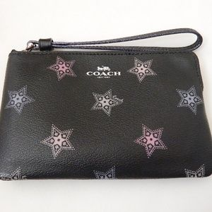 COACH Dotted Star Small Wristlet